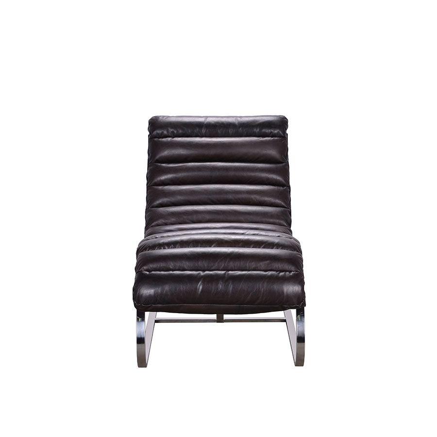 Chaise en cuir noir - Auckland