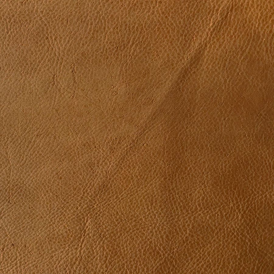 Pouf convertible en cuir camel - Edimbourg