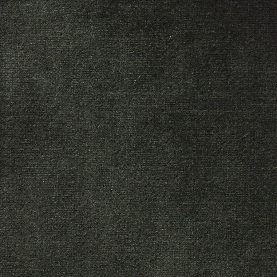 Canapé 1.5 places en tissu velours noir accoudoir gauche - Baltimore