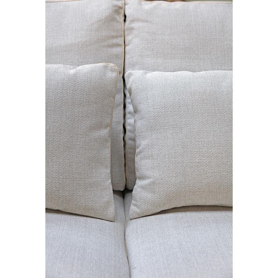 Canapé d'angle 5 places en tissu beige partie gauche - Baltimore
