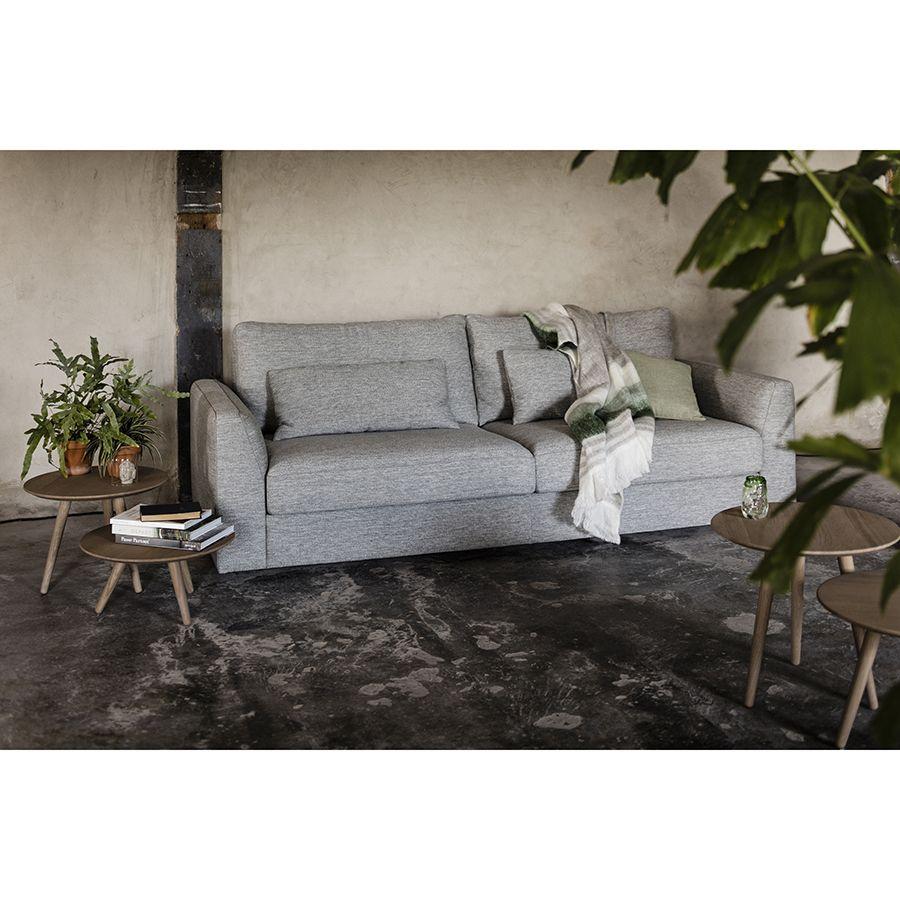 Canapé 3 places en tissu gris - Baltimore