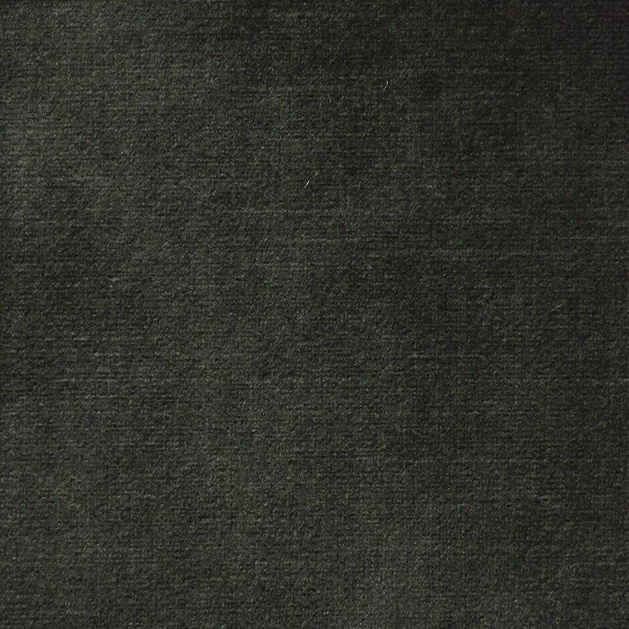 Canapé 3.5 places en tissu velours noir accoudoir gauche - Baltimore