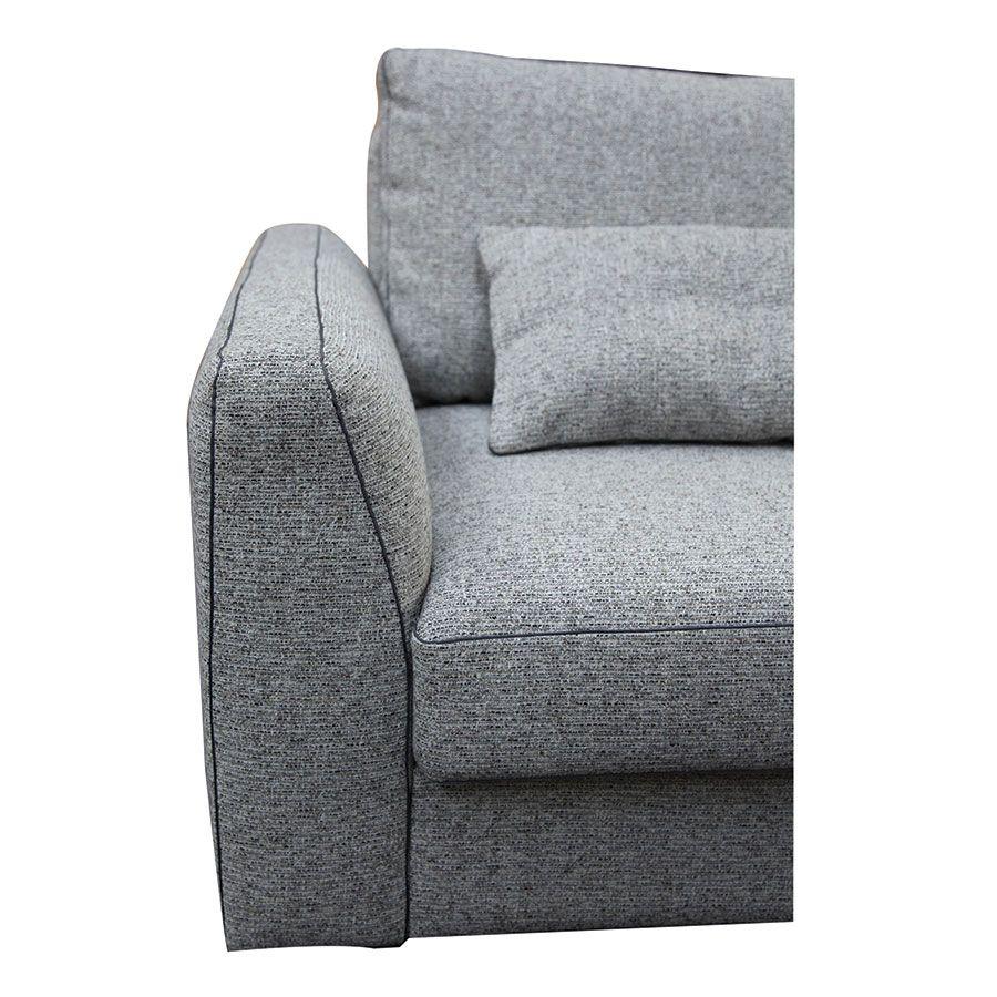 Canapé 4 places en tissu gris - Baltimore