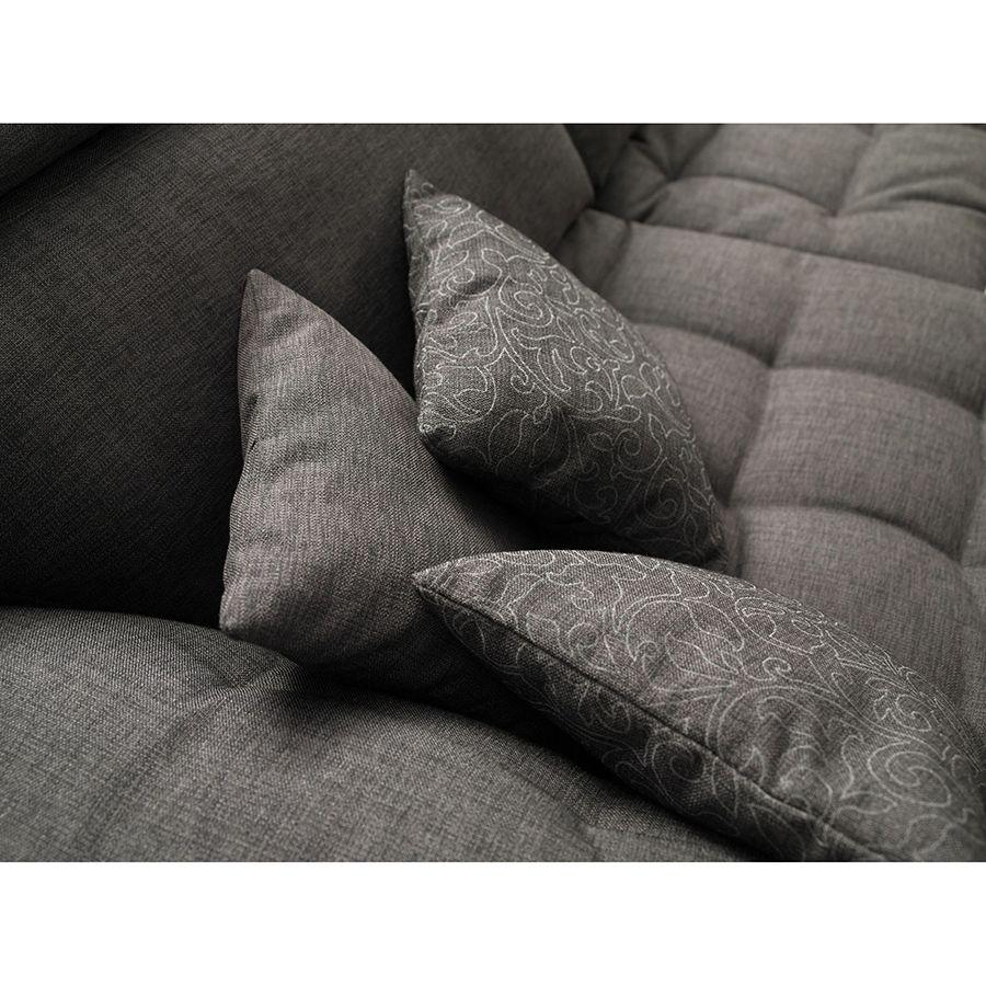 Canapé 2 places en tissu gris - Stockholm
