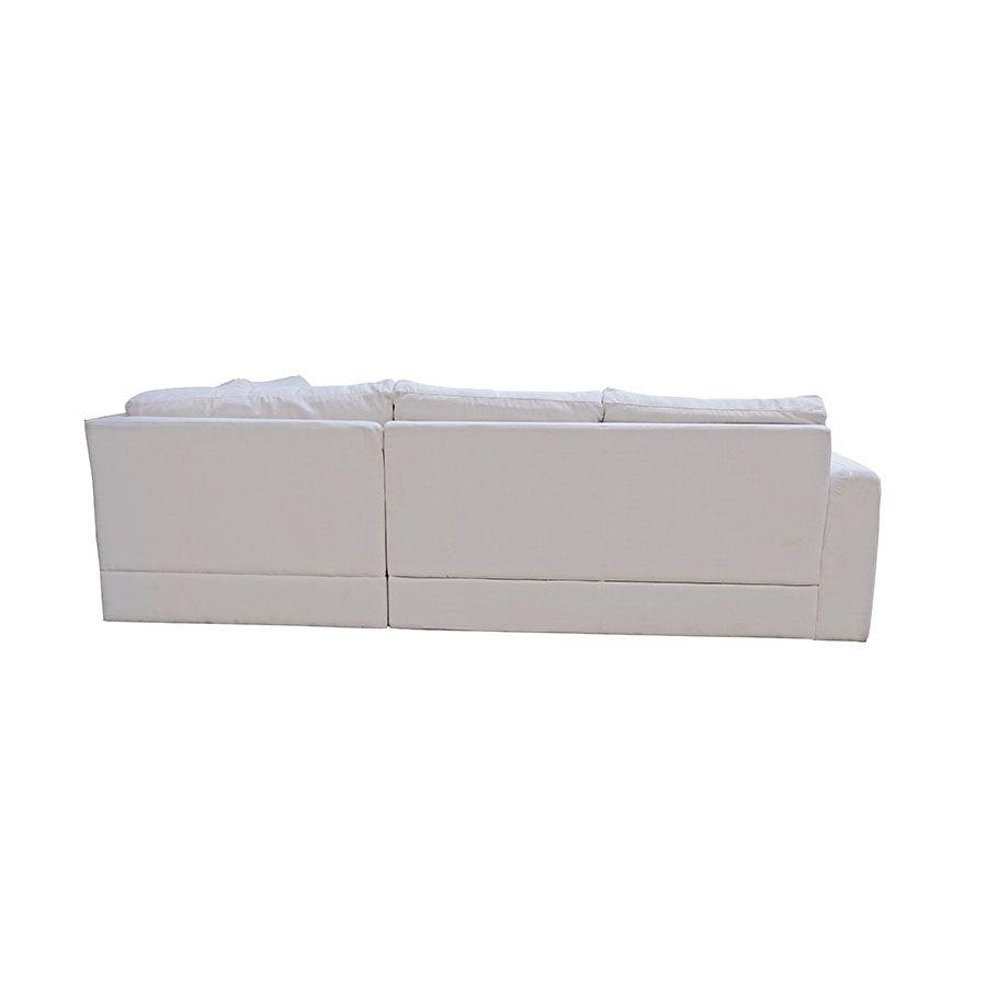 Canapé d'angle 5 places en tissu beige - Baltimore