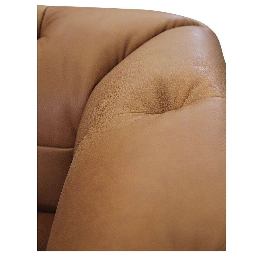 Canapé 3 places en cuir camel - Brighton