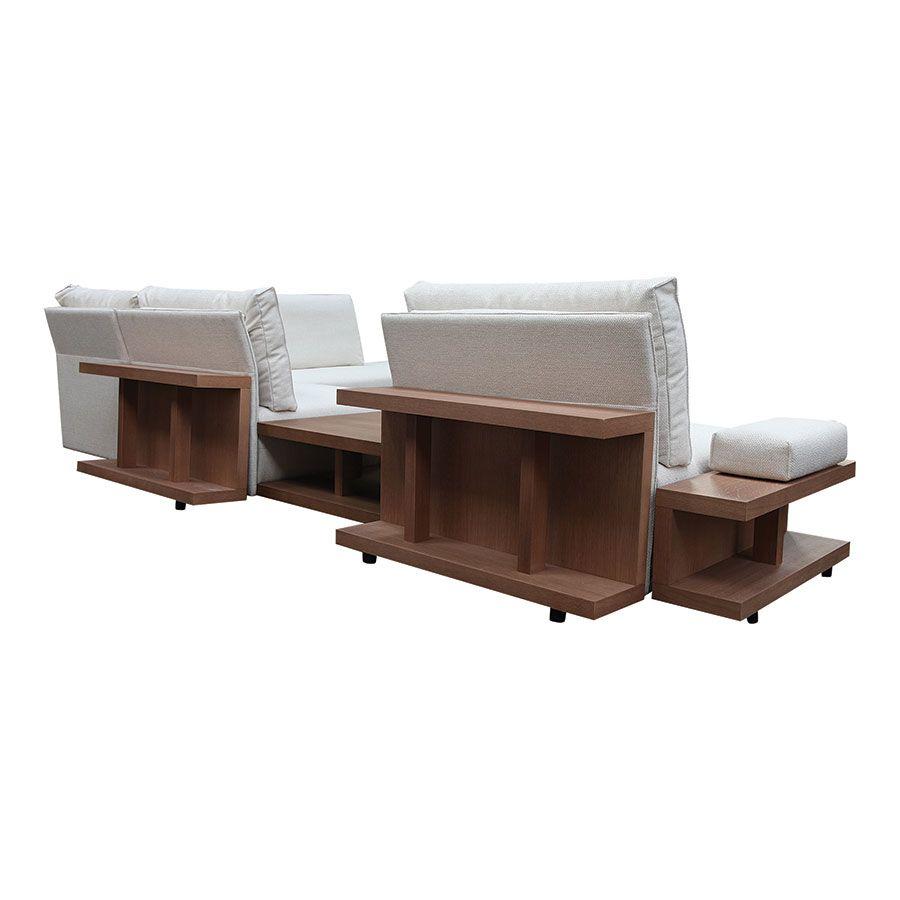 Canapé d'angle en tissu beige - Milano