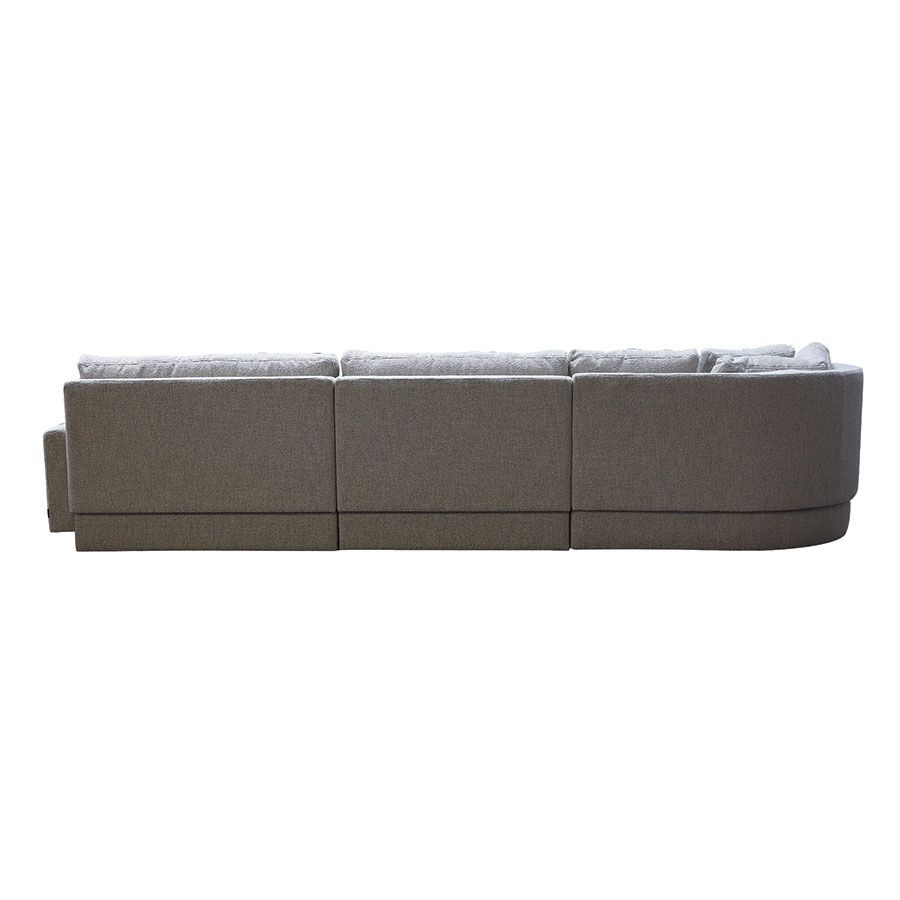 Canapé d'angle en tissu gris clair - Syracuse