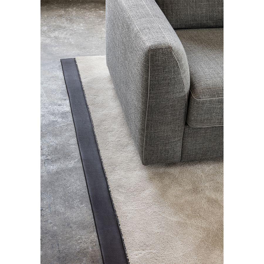 Canapé d'angle 5 places en tissu gris - Baltimore