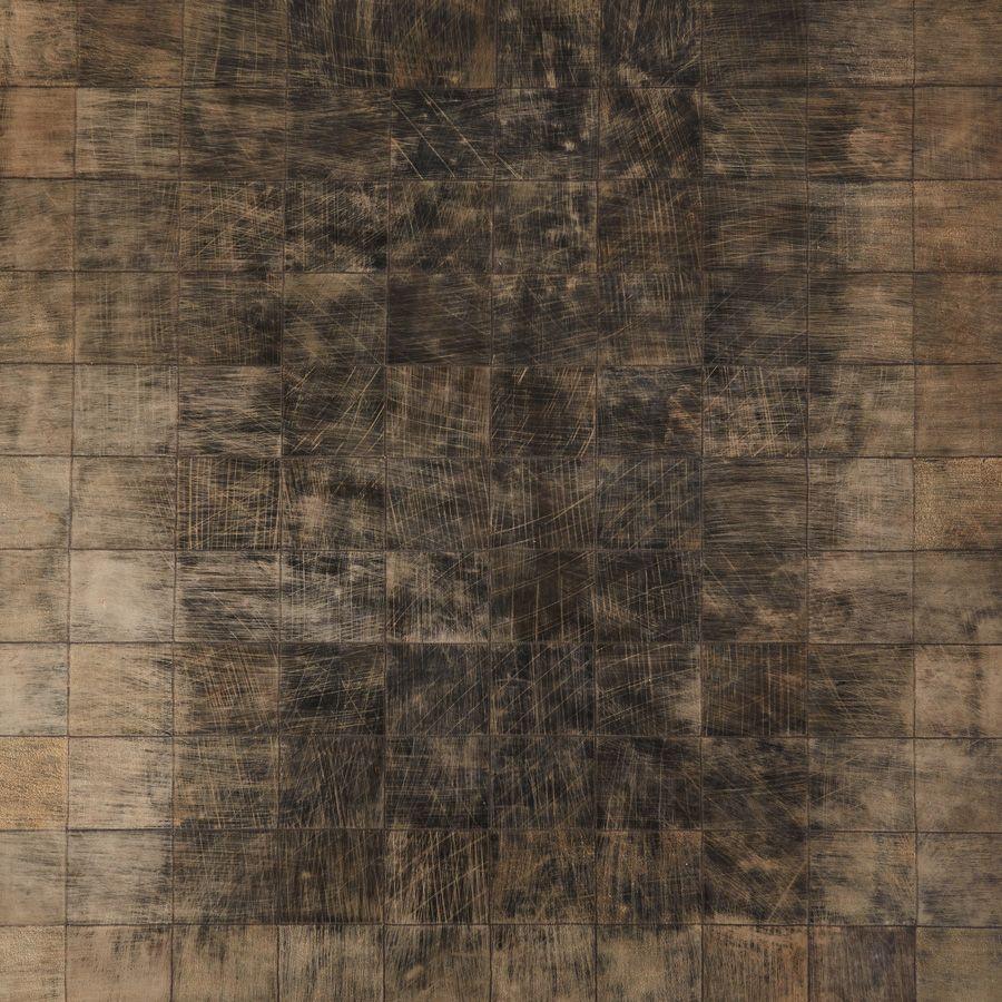 Tapis en cuir marron 170x230 - Walter