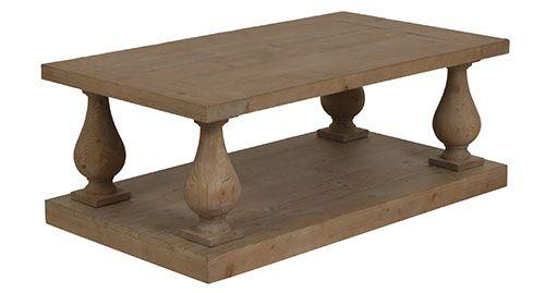 Table basse forme balustre