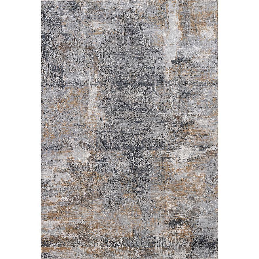 Tapis bleu/doré 160x230cm - Orage