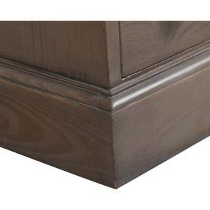 Petite commode 4 tiroirs en épicéa massif brun fumégrisé -Natural - Visuel n°9