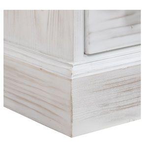 Petite commode 4 tiroirs en épicéa nuage de blanc - Natural