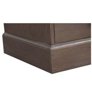 Commode 5 tiroirs en épicéa massif brun fumé grisé - Natural - Visuel n°8