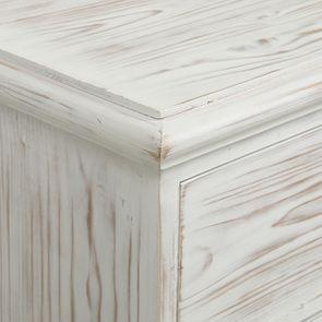 Commode 5 tiroirs en épicéa nuage de blanc - Natural - Visuel n°10