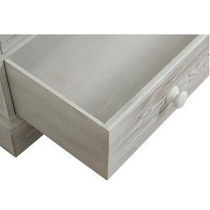 Commode 5 tiroirs en épicéa nuage de blanc - Natural - Visuel n°11