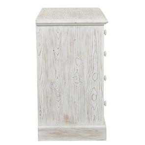Commode 5 tiroirs en épicéa nuage de blanc - Natural - Visuel n°5