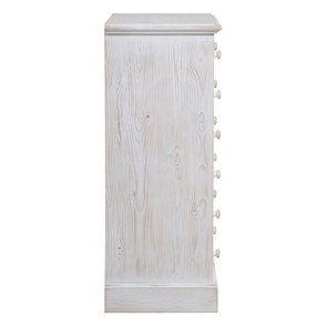 Commode 6 tiroirs en épicéa nuage de blanc - Natural - Visuel n°5