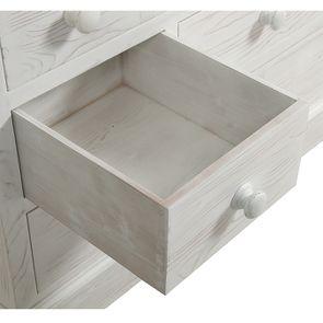 Commode de mercerie 9 tiroirs en épicéa nuage de blanc - Natural - Visuel n°13