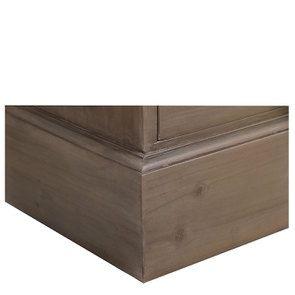 Commode de mercerie 22 tiroirs en épicéa brun fumé grisé - Natural - Visuel n°10
