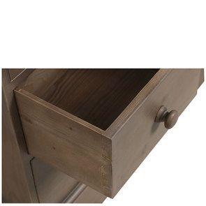 Commode de mercerie 22 tiroirs en épicéa brun fumé grisé - Natural - Visuel n°11