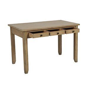 Bureau avec tiroirs en épicéa naturel cendré - First - Visuel n°2