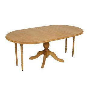 Table ronde extensible en épicéa naturel ciré 8 personnes - Natural - Visuel n°4