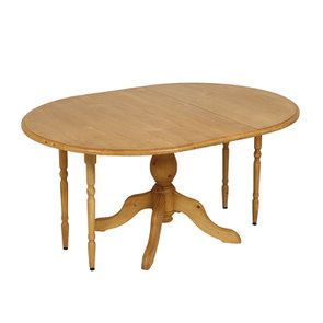 Table ronde extensible en épicéa naturel ciré 8 personnes - Natural - Visuel n°6