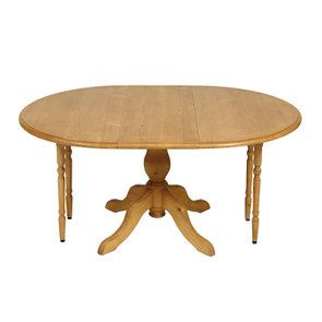 Table ronde extensible en épicéa naturel ciré 8 personnes - Natural - Visuel n°7