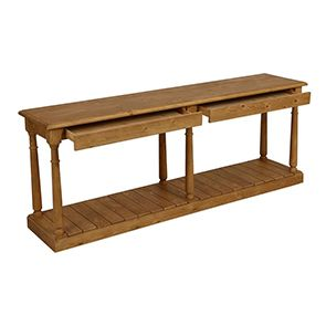 Table drapier 2 tiroirs en épicéa massif - Natural - Visuel n°3