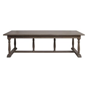 Table rectangulaire en épicéa massif brun fumé grisé 10 personnes – Natural