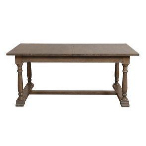 Table rectangulaire extensible en épicéa brun fumé - Natural