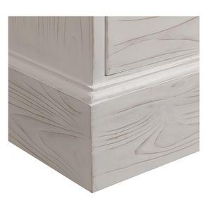 Scriban avec tiroirs en épicéa nuage de blanc - Natural