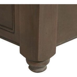 Table basse carrée en épicéa massif brun fumé grisé - Natural