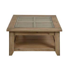 Table basse avec rangement en épicéa - First