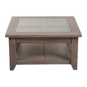 Table basse carrée contemporaine en épicéa - First