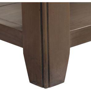 Bout de canapé contemporain en épicéa brun fumé grisé - First - Visuel n°9
