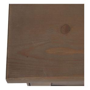 Bout de canapé contemporain en épicéa brun fumé grisé - First - Visuel n°10