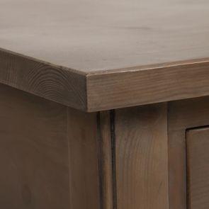 Bout de canapé contemporain en épicéa brun fumé grisé - First - Visuel n°11