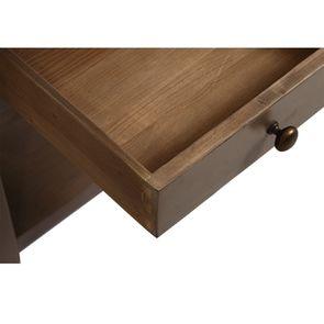 Bout de canapé contemporain en épicéa brun fumé grisé - First - Visuel n°12