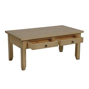 Table basse rectangulaire avec rangement en épicéa - First - Visuel n°3