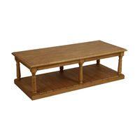 Table basse rectangulaire en épicéa - Natural