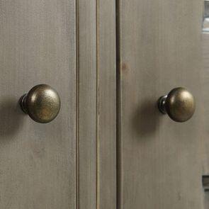 Armoire penderie 2 portes 2 tiroirs en épicéa brun fumé grisé - First - Visuel n°8