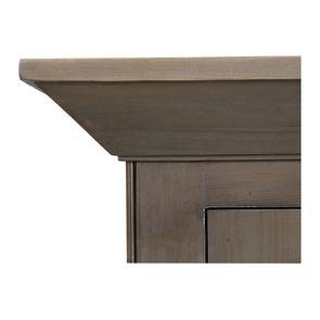 Armoire penderie 2 portes 2 tiroirs en épicéa brun fumé grisé - First - Visuel n°9