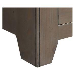 Armoire penderie 2 portes 2 tiroirs en épicéa brun fumé grisé - First - Visuel n°10