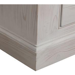 Armoire penderie 2 portes 3 tiroirs en épicéa nuage de blanc - Natural - Visuel n°9