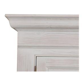 Armoire penderie 2 portes 3 tiroirs en épicéa nuage de blanc - Natural - Visuel n°10