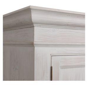 Armoire penderie 2 portes 3 tiroirs en épicéa nuage de blanc - Natural - Visuel n°11