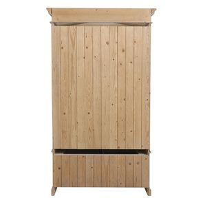 Armoire penderie 2 portes 3 tiroirs en épicéa nuage de blanc - Natural - Visuel n°8